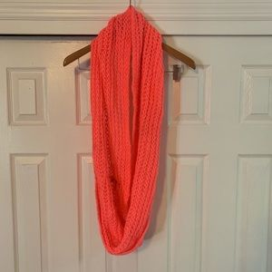 Cotton On Neon Hot Orange Knit  Infinity Scarf